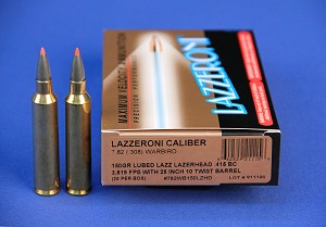 Lazzeroni® Factory Loaded Ammo in Caliber 7.82 (.308) Warbird® 150gr Lubed Lazerhead Lead-Free
